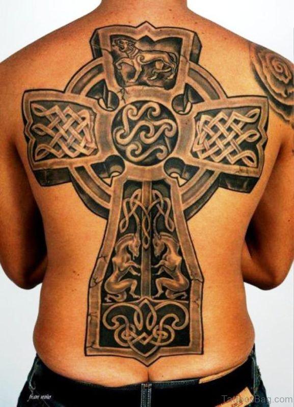Fabulous Celtic Tattoo Design On Back