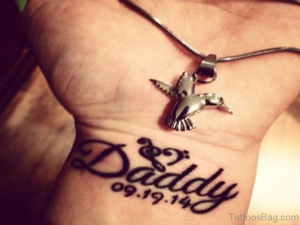 Fabulous Dady Word Tattoo