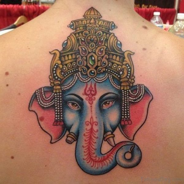 Fabulous Ganesha Tattoo On Back