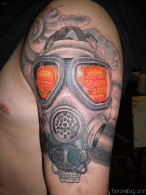 Fabulous Gas Mask Tattoo