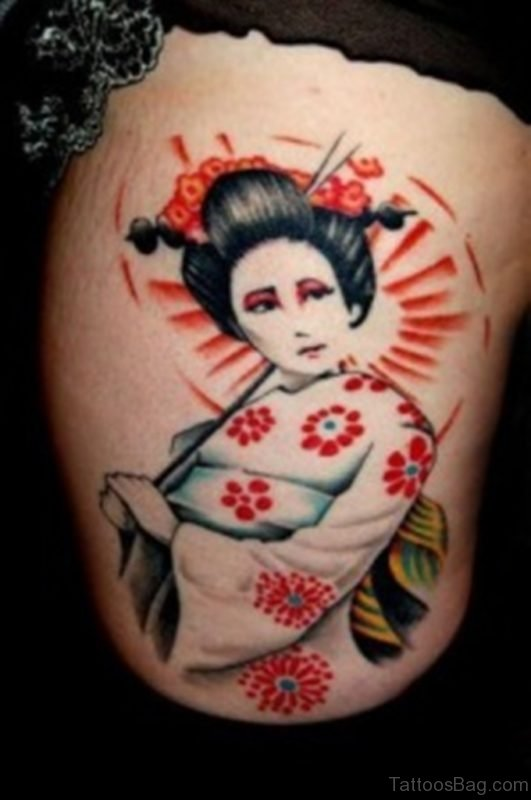 Fabulous Geisha Tattoo