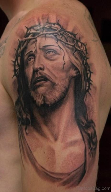 Fabulous Jesus Tattoo Design