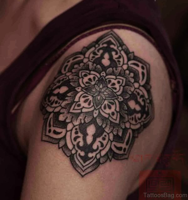 Fabulous Mandala Tattoo On Shoulder