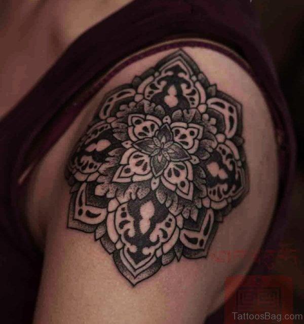 Fabulous Mandala Tattoo On Shoulder