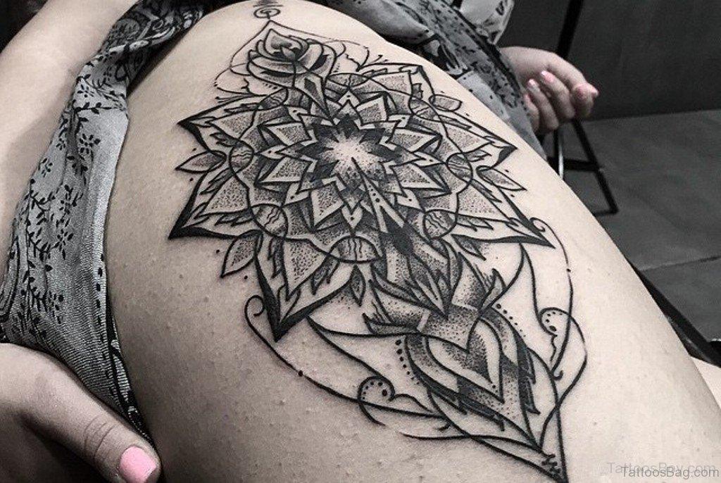 7adba5095 70 Fabulous Mandala Tattoos For Thigh