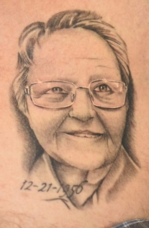 Fabulous Portrait Tattoo For Cehst