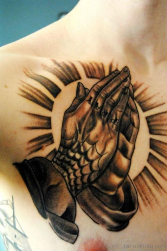 Fabulous Praying Hands Tattoo