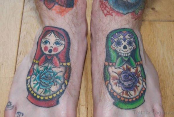 Fabulous Skull Tattoo On Foot