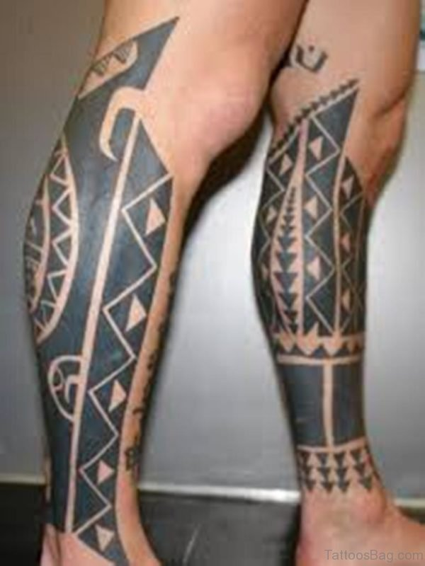 Fabulous Tribal Tattoo For Leg