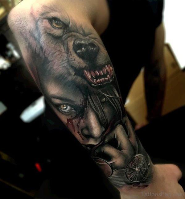 Fabulous Wolf Tattoo