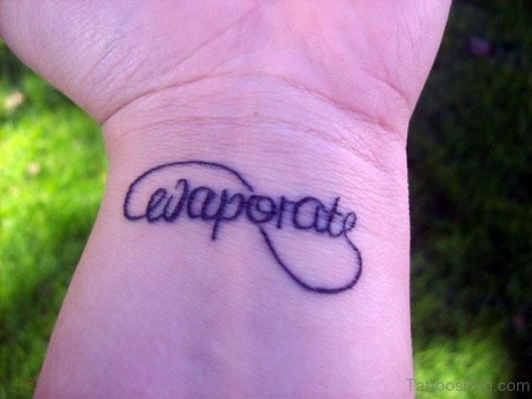 Fabulous Wording Tattoo
