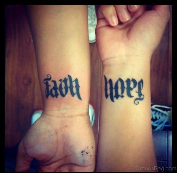 Faith Hope Ambigram Tattoo