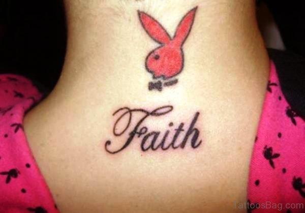 Faith Neck Tattoo