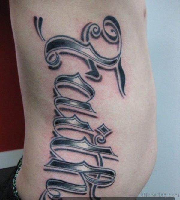 Faith Tattoo On Rib