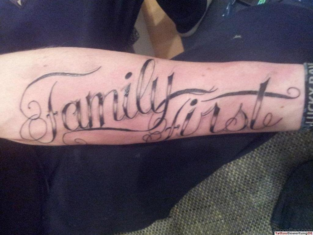 20 Best Family Wording Tattoo On Arm