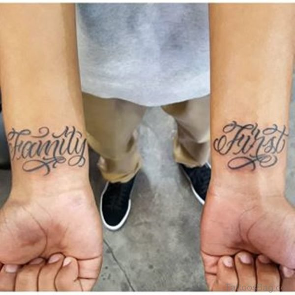 Family First Tattoo On Wrist