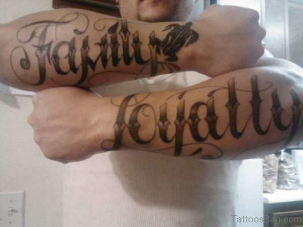 Family Loyalty Tattoo