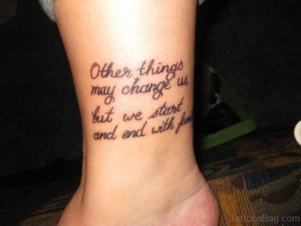Family Wording Tattoo