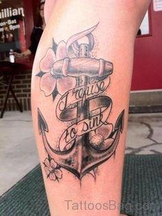 Fancy Anchor Tattoo