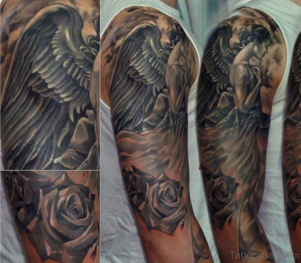 Fancy Angel Tattoo