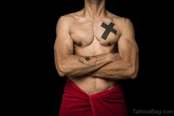 Fancy Cross Tattoo