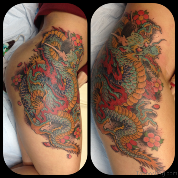 Fancy Dragon Tattoo