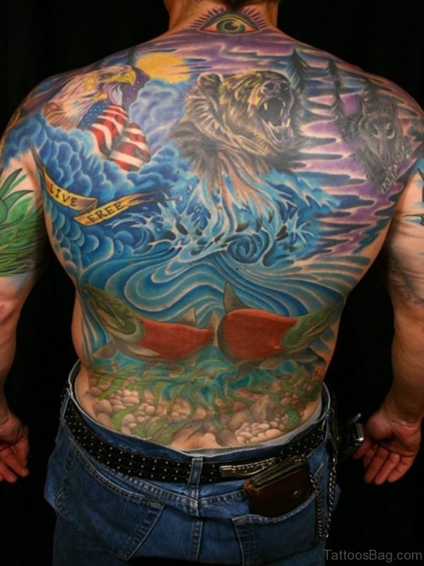 Fancy Full Back Tattoo BT1062