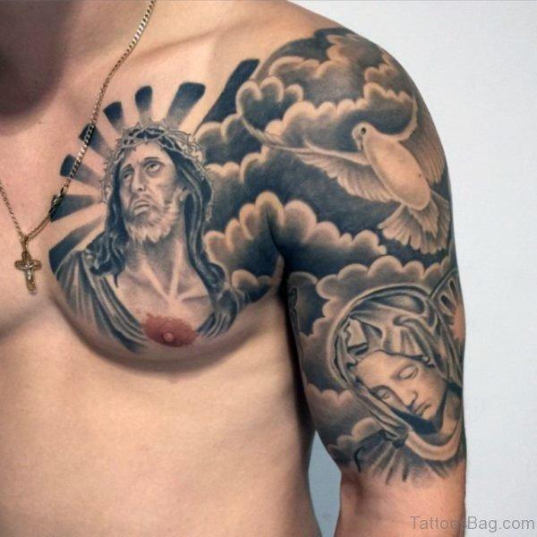 Fancy Jesus Tattoo