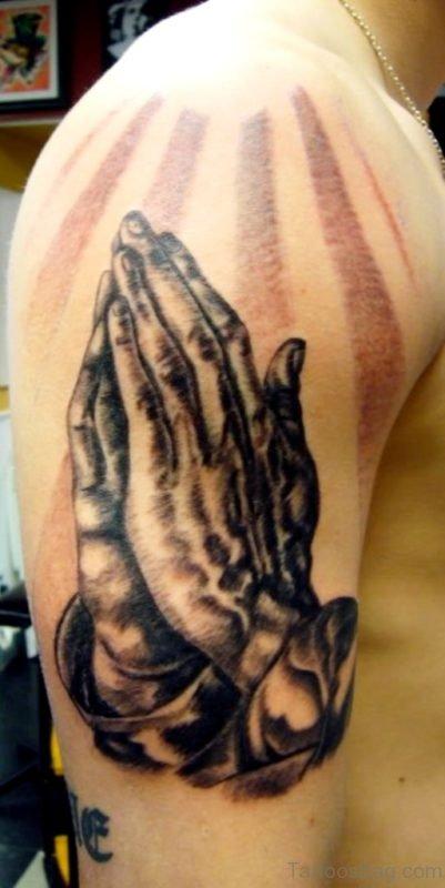 Fancy Praying Hands Tattoo