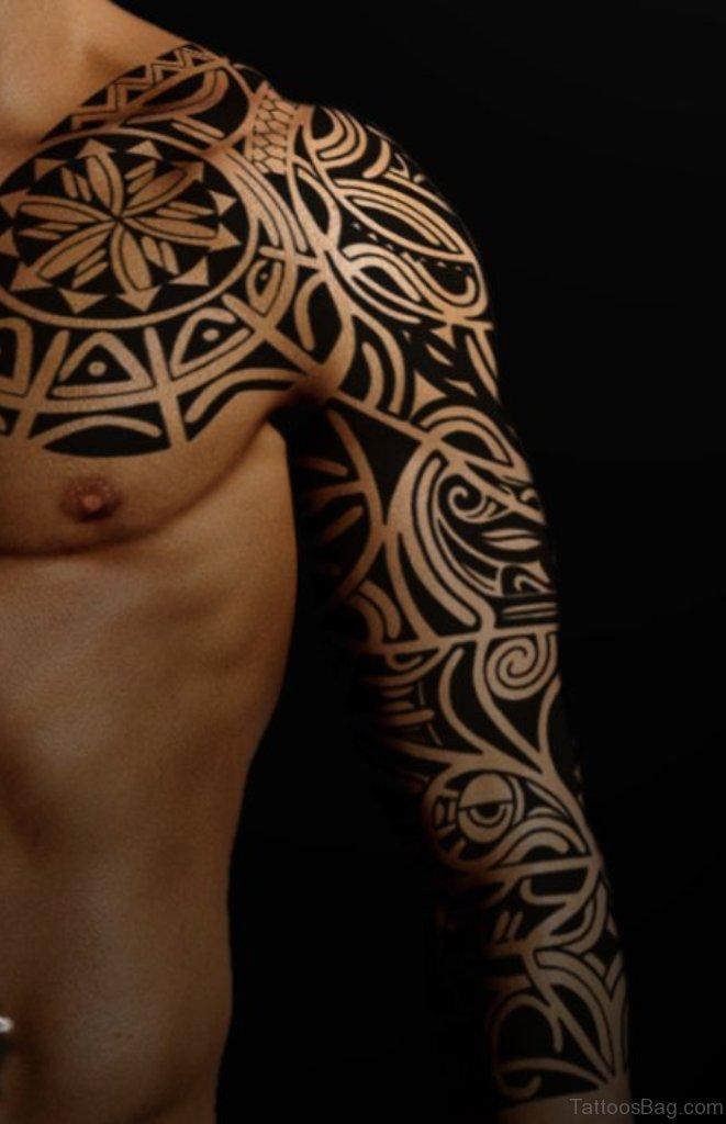 70 fabulous tribal tattoos on full sleeve. Black Bedroom Furniture Sets. Home Design Ideas