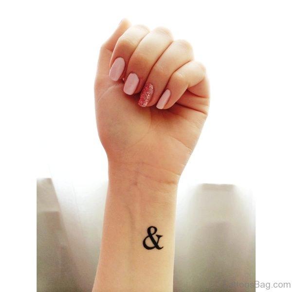 Fantastic Ampersand Tattoo On Wrist