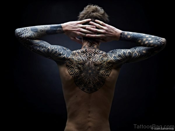 Fantastic Back Tattoo BT1064