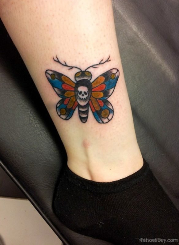 Fantastic Butterfly Tattoo On Ankle