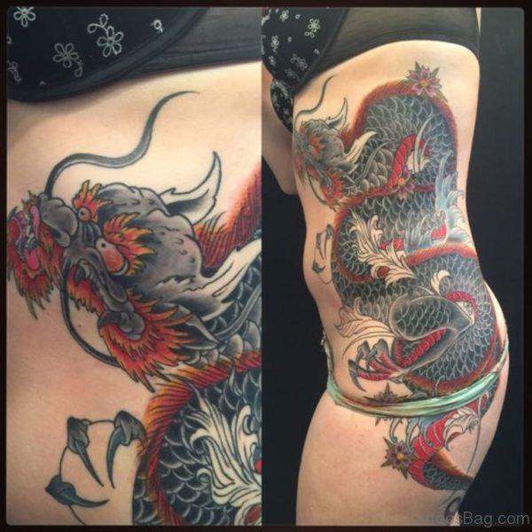 Fantastic Dragon Tattoo Design