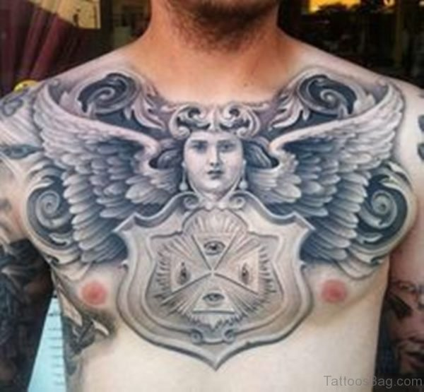 Fantastic Egyptian Tattoo On Chest