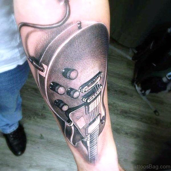 Fantastic Guitar Guitar Tattoo On Forearm