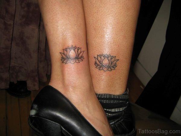 Fantastic Lotus Tattoo On Ankle