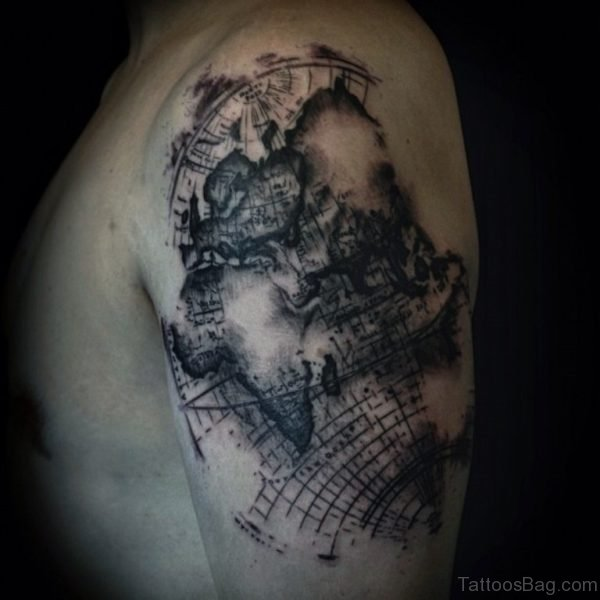 Fantastic Map Tattoo