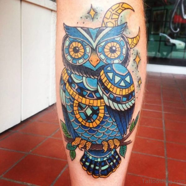 Fantastic Owl Tattoo Design