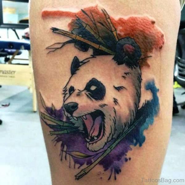 Fantastic Panda Shoulder Tattoo