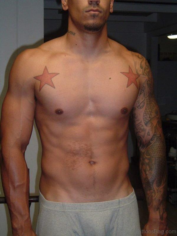 Fantastic Stars Chest Tattoo