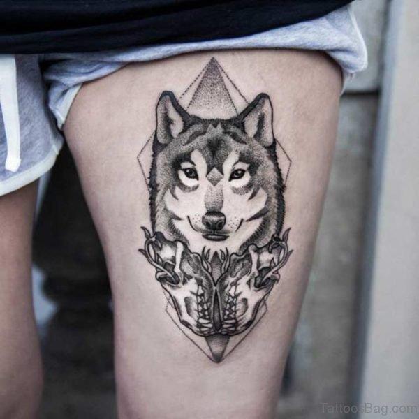 Fantastic Wolf Tattoo