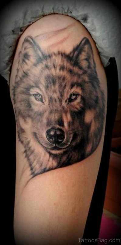 Fantastic Wolf Tattoo Design