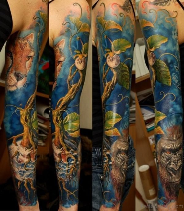 Fantasy Full Sleeve Tattoo