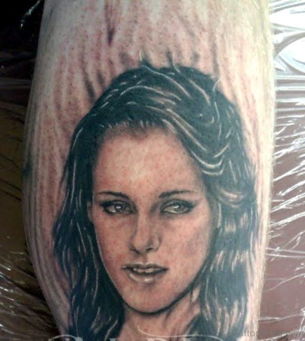 Fantasy Girl Portrait Tattoo