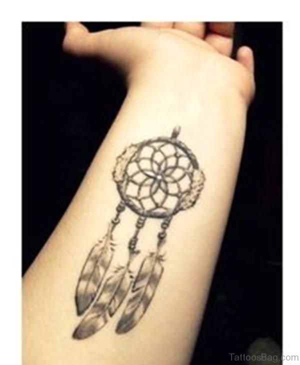Fantatsic Dreamcatcher Tattoo On Wrist