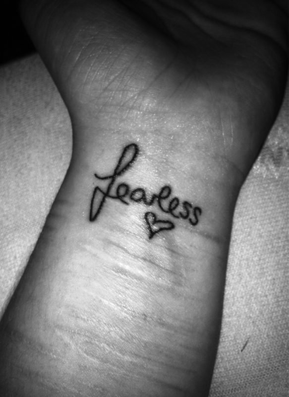 Fearless Tattoo On Wrist