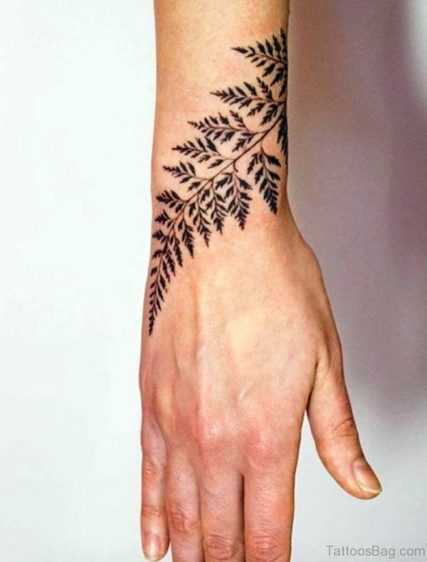Fern Tattoo Design On Wrist