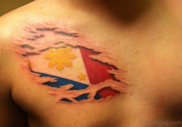 Filipino Torn Flag Tattoo