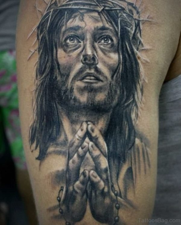 Fine Jesus Tattoo Design